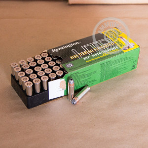 A photograph of 500 rounds of 125 grain 38 Special ammo with a semi-jacketed hollow-Point (SJHP) bullet for sale.