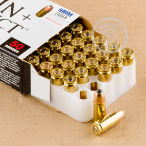 An image of 9mm Luger ammo made by Federal at AmmoMan.com.