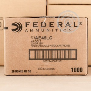 Image of Federal .45 COLT pistol ammunition.