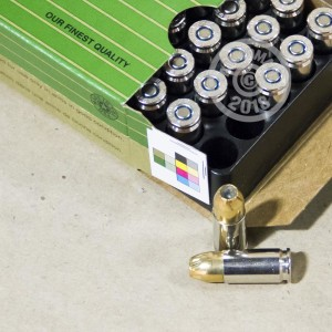 Image of 9mm Luger ammo by Remington that's ideal for home protection.