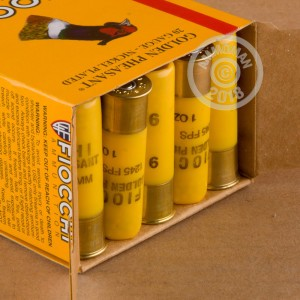 Great ammo for hunting pheasant, upland bird hunting, these Fiocchi rounds are for sale now at AmmoMan.com.