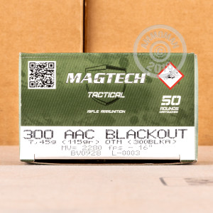A photograph of 500 rounds of 115 grain 300 AAC Blackout ammo with a Open Tip Match bullet for sale.