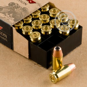A photo of a box of Hornady ammo in .45 Automatic.