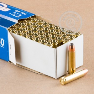 A photograph of 500 rounds of 110 grain .30 Carbine ammo with a soft point bullet for sale.