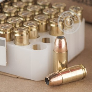 Image of 9mm Luger ammo by Federal that's ideal for home protection.