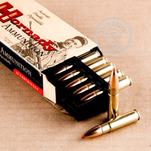 A photo of a box of Hornady ammo in 300 AAC Blackout.