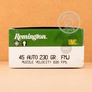 Image of .45 Automatic ammo by Remington that's ideal for training at the range.