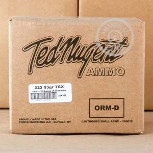 An image of 223 Remington ammo made by Ted Nugent Ammo at AmmoMan.com.