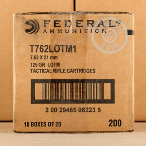 Image of 308 / 7.62x51 ammo by Federal that's ideal for precision shooting, training at the range.