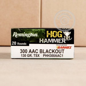 Image of Remington 300 AAC Blackout rifle ammunition.