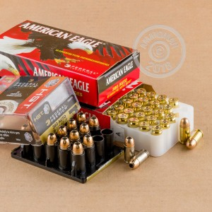 A photograph of 120 rounds of 95 grain .380 Auto ammo with a FMJ bullet for sale.