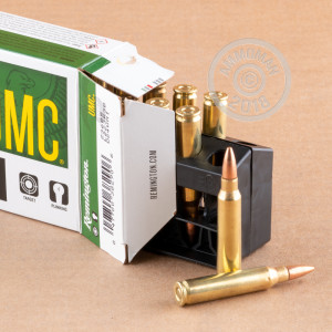 Image of 223 Remington ammo by Remington that's ideal for training at the range.