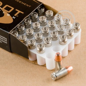 Photo of 9mm Luger JHP ammo by Speer for sale at AmmoMan.com.