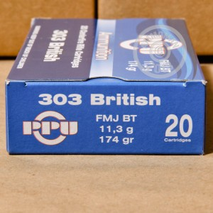 Photo of 303 British FMJ-BT ammo by Prvi Partizan for sale.