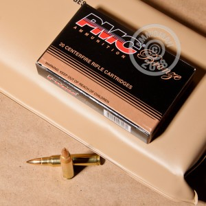 An image of 223 Remington ammo made by PMC at AmmoMan.com.