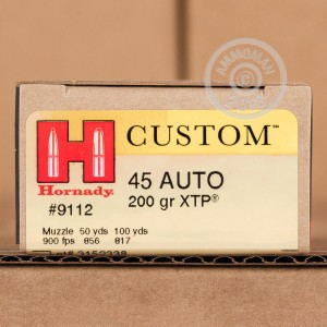 Photo of .45 Automatic JHP ammo by Hornady for sale at AmmoMan.com.