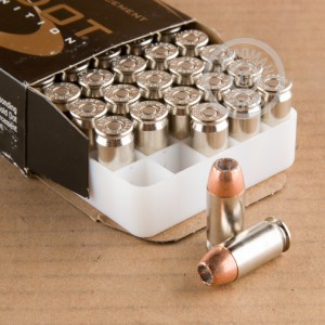 A photo of a box of Speer ammo in .45 Automatic.