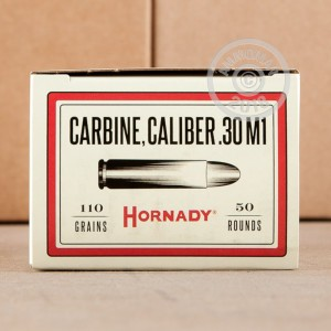 Photo of .30 Carbine FMJ ammo by Hornady for sale.