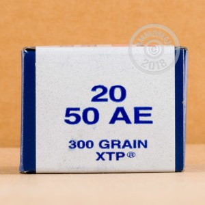 Image of 50 Action Express pistol ammunition at AmmoMan.com.