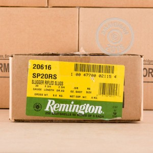 Photograph of Remington 20 Gauge Rifled Slug for sale at AmmoMan.com