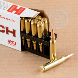 A photograph of 200 rounds of 75 grain 223 Remington ammo with a Hollow-Point Boat Tail (HP-BT) bullet for sale.