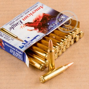 Image of 223 Remington ammo by Federal that's ideal for precision shooting, shooting indoors, training at the range.