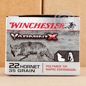 Photo of 22 Hornet Polymer Tipped ammo by Winchester for sale.