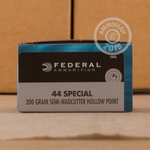 Image of 44 Special ammo by Federal that's ideal for home protection.