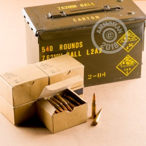 540 rounds of malaysian military surplus ammo can 7 62x51mm