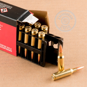 An image of .224 Valkyrie ammo made by Federal at AmmoMan.com.