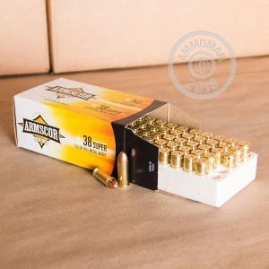 Image of 38 Super ammo by Armscor that's ideal for training at the range.