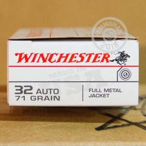 A photo of a box of Winchester ammo in .32 ACP.