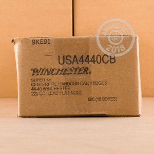 Photo of 44-40 WCF Lead Flat Nose ammo by Winchester for sale.