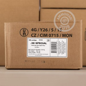 Image of 38 Special ammo by Sellier & Bellot that's ideal for training at the range.
