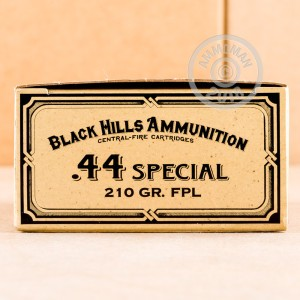 Photo of 44 Special Lead Flat Nose ammo by Black Hills Ammunition for sale at AmmoMan.com.