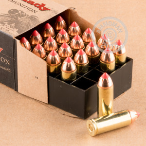 A photograph of 200 rounds of 225 grain .45 COLT ammo with a JHP bullet for sale.