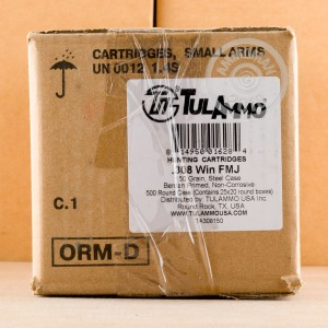 Photo of 308 / 7.62x51 FMJ ammo by Tula Cartridge Works for sale.