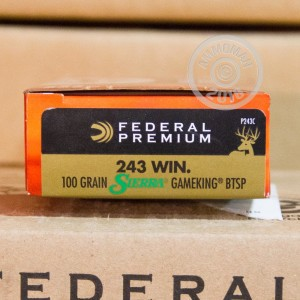 An image of 243 Winchester ammo made by Federal at AmmoMan.com.