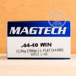 Photo of 44-40 WCF Lead Flat Nose ammo by Magtech for sale.