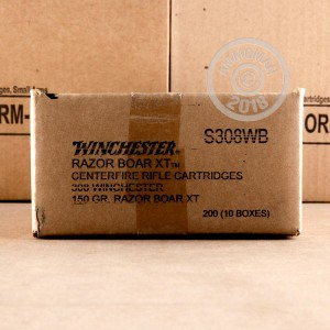 A photo of a box of Winchester ammo in 308 / 7.62x51.