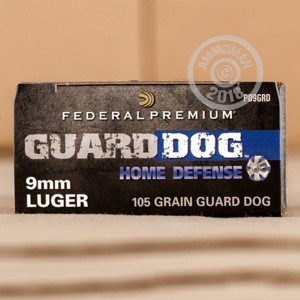Photo of 9mm Luger expanding full metal jacket ammo by Federal for sale at AmmoMan.com.