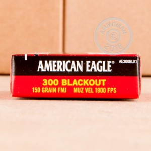 A photo of a box of Federal ammo in 300 AAC Blackout.