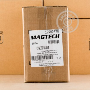 Photo of 357 Magnum Semi-Jacketed Soft-Point (SJSP) ammo by Magtech for sale at AmmoMan.com.