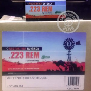 An image of 223 Remington ammo made by Australian Outback at AmmoMan.com.