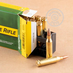 Photo of 243 Winchester Pointed Soft-Point (PSP) ammo by Remington for sale.