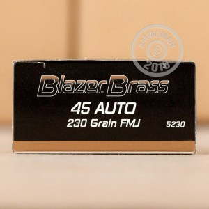 A photograph of 1000 rounds of 230 grain .45 Automatic ammo with a FMJ bullet for sale.