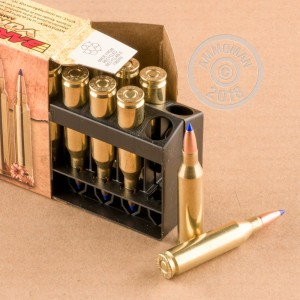A photograph detailing the 243 Winchester ammo with TTSX bullets made by Barnes.