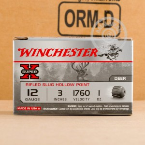 Image showing the Winchester shotgun ammo that's ideal for big game hunting, whitetail hunting, hunting.