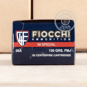 Image of Fiocchi 38 Special pistol ammunition.
