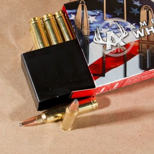 A photo of a box of Hornady ammo in 300 Winchester Magnum.